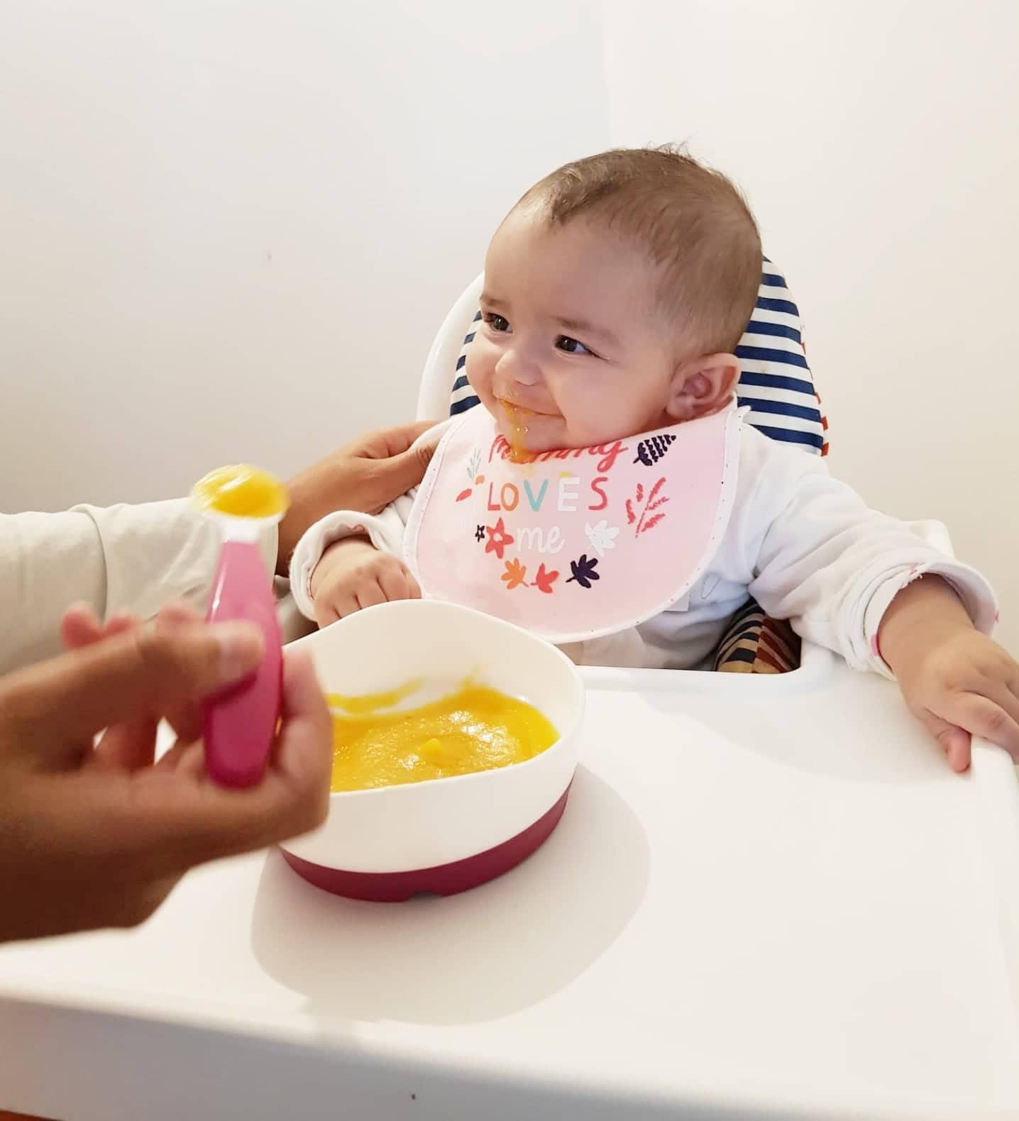 primeira sopa do bebé